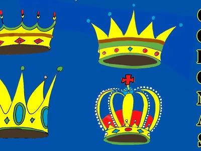 Cómo dibujar una corona: 4 modelos diferentes