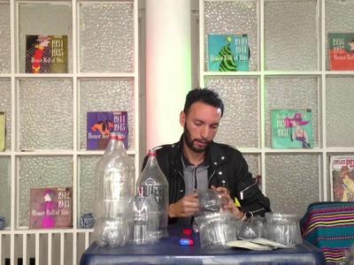 Cómo hacer lámparas con botellas de plástico