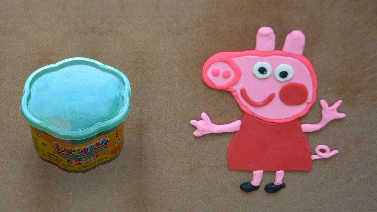 Como hacer Peppa Pig en plastilina