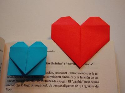 Como hacer un marcapaginas con forma de corazon muy facil