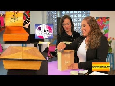 Cómo reciclar cajas o muebles con imitación de marquetería