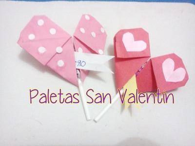 Decora tus paletas para San Valentin (con nota)