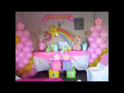 Decoración de mesas, globos y más para baby shower