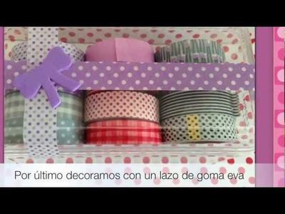 Decorando una caja con whasi tape - Manualidades DIY