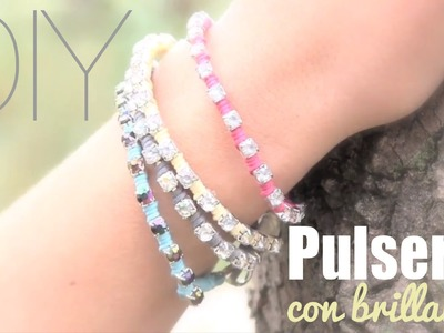 DIY: Pulseras con brillantes