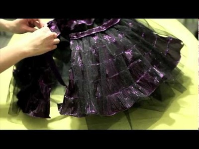 Falda de listón