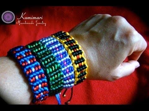 Kumimari 8: Square Loom:Bracelets for Men. Telar de Kumihimo Cuadrado:Pulseras para Hombres