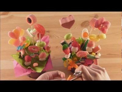 Maceta con flores de chuches
