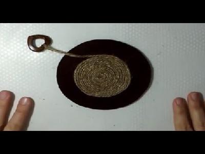 Posavasos de fieltro y cuerda de yute decorativos | facilisimo.com