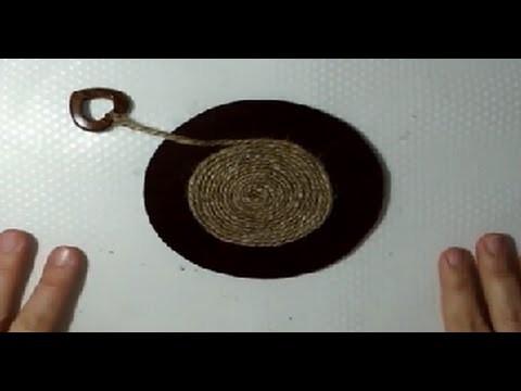 Posavasos de fieltro y cuerda de yute decorativos   facilisimo.com