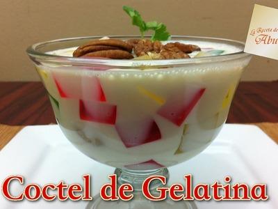 Receta de coctel de gelatina, postre fácil y económico para fiestas - La receta de la abuelita