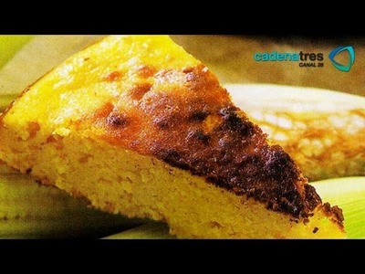 Receta fácil de como preparar un pan de elote sin harina. Receta de repostería estilo mexicano