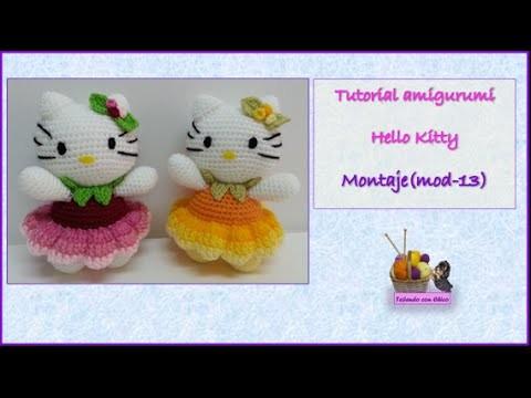 Tutorial amigurumi Hello Kitty - Montaje (mod-13)