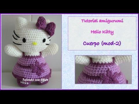 Tutorial amigurumi Hello Kitty - Cuerpo (mod-2) (English subtitles)
