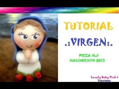 Virgencita porcelana fria paso a paso NACIMIENTO NAVIDAD 2013!