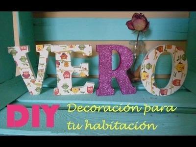 D.I.Y Decoración Para Tu Habitación (Tutorial) Tumblr