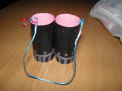 DIY prismaticos con rollos de cartón