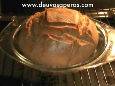 Como hacer Pan Casero Rápido y Fácil (En bol de Pyrex) - Recetas de Masas