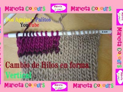 """Dos Agujas """"Cómo cambiar hilos de forma Vertical"""" por Maricita Colours Tutorial"""