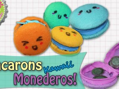 Macarons- Monederos Kawaii hechos con Latas. Floritere