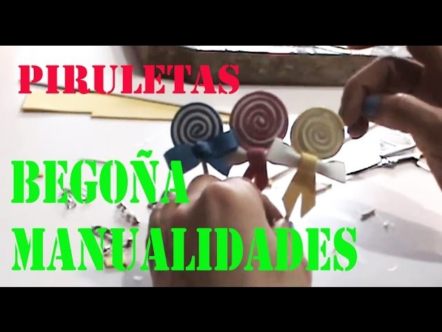 Manualidades #Goma#Eva - Piruleta Facil Y Rapido - TUTORIAL