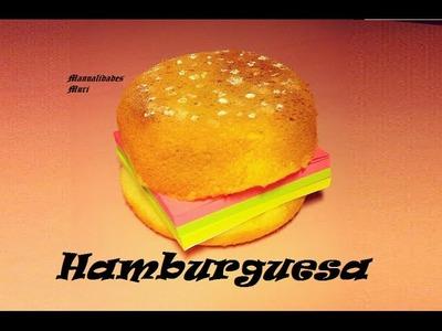 Manualidades. Hamburguesa con post-it, especial para regalar o decorar