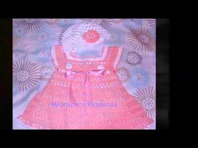 Ganchillo Vestido Para Bebe Zapatitos Para Bebe Gorritoa