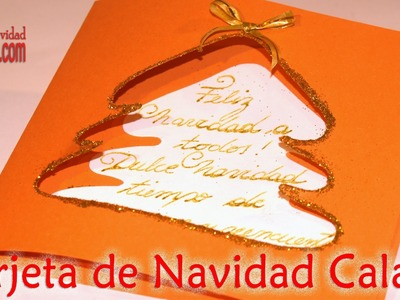 Tarjeta calada navideña DIY