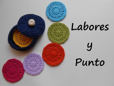 Aprende a tejer esta caja y los posavasos  a ganchillo o crochet - Parte 2 de 2