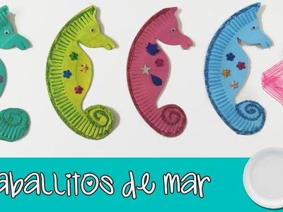 CABALLITOS DE MAR de carton * Manualidades de RECICLAJE