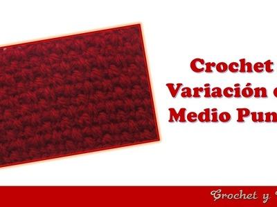 Colección de puntos crochet - Variación de medio punto