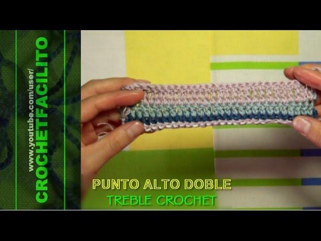 CROCHET - PUNTO ALTO DOBLE - TREBLE CROCHET
