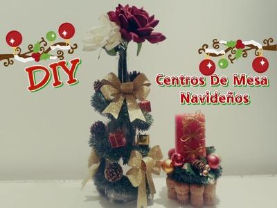 DIY centros de mesa navideños (reciclaje)