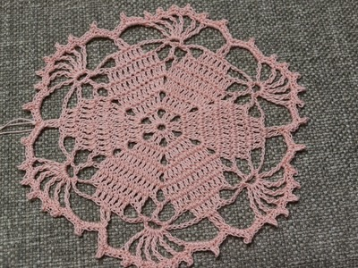 Flor para Blusa Crochet
