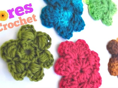 Flores de CROCHET TUTORIAL
