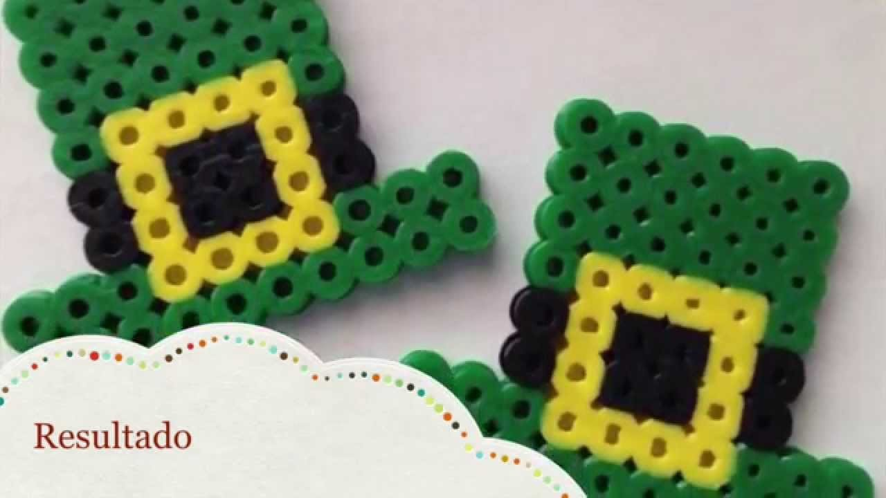 Hama. Perler Beads - St Patrick's Day