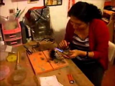Joyería orfebrería - Cómo se hace una pulsera de plata con tejido peruano Parte 1