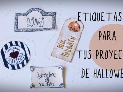 Manualidades para Halloween: etiquetas para decorar  tus proyectos DIY