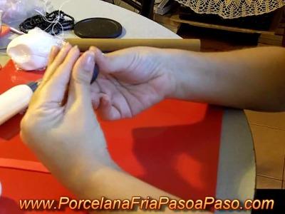 Muñeco de Nieve 2 de 2 - Porcelana Fria Paso a Paso
