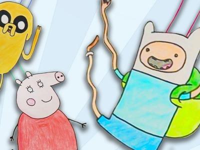 Muñecos saltarines de papel – Manualidades con papel para niños