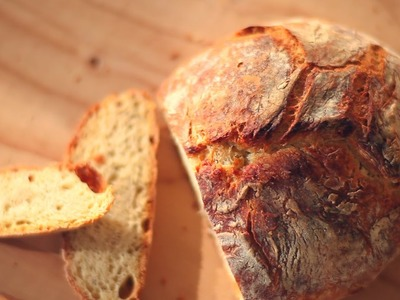 Pan rústico sin amasar