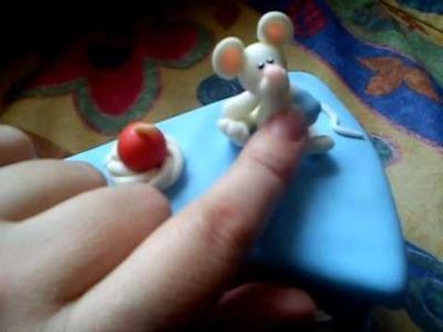 Porcelana fria pastel con ratoncitos