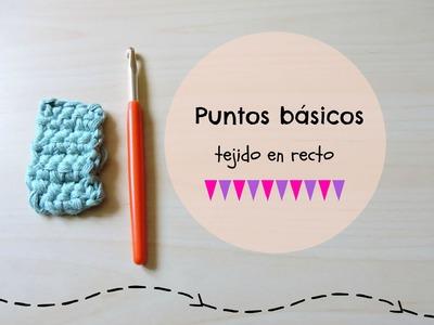 Puntos básicos ganchillo tejido recto - Easy crochet stitchs