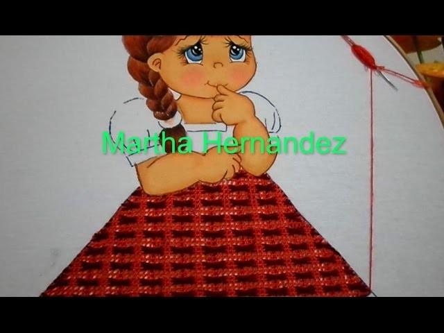 Bordado Fantasia Falda Niña Sandia