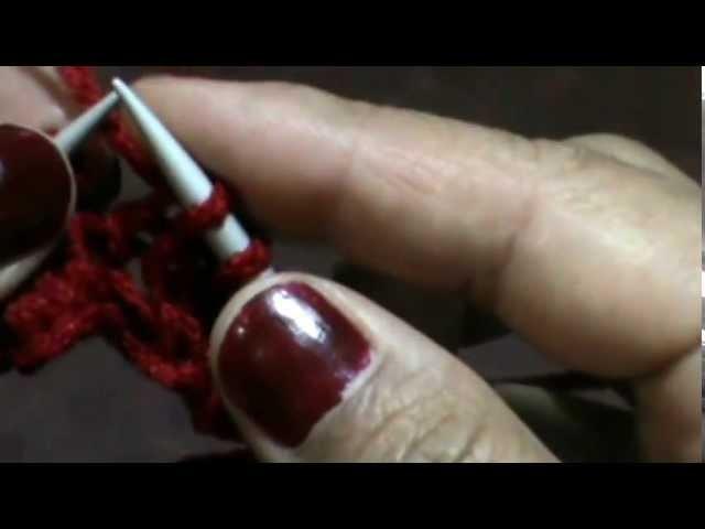 Bufanda granada (dos agujas) scarf