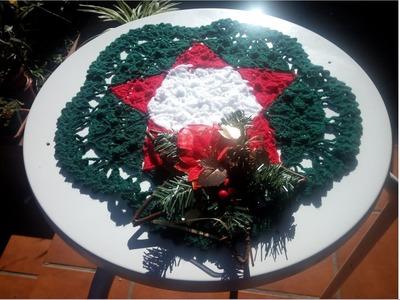 Centro de mesa  crochet navidad 2