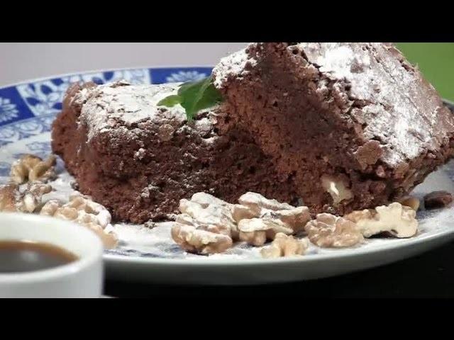 Cómo hacer brownies de chocolate y nueces : Postres fáciles y ricos