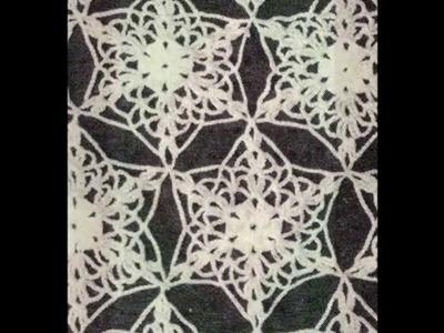 Como Tejer Camino de mesa en rombo a crochet