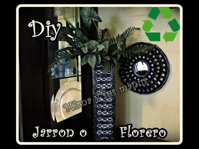 Diy. Como hacer un jarron con revistas. Diy.  How to make a vase with magazines