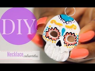 DIY Necklace calaveritas dia de Muertos. MaryTó Chocolate